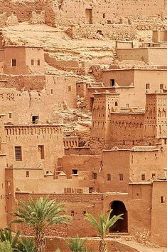 """20 UNREAL Travel Destinations!  Ait Benhaddou is an impressive fortified city made up of many """"kasbahs"""". A kasbah is buildings made entirely from mud and straw. I have know idea how mud could stand as a beautiful city."""