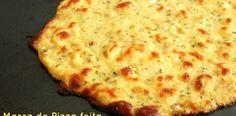 Receita de massa de pizza light sem farinha | Receitas Supreme