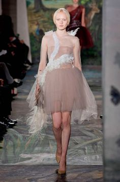 Leda and the swan dress for Valentino's Couture catwalk: http://uk.bazaar.com/1cY01HP