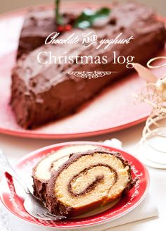 Chocolate and Yoghurt Christmas log