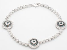 Julianne Silver Tennis Bracelet