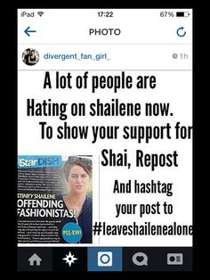 #leaveshailenealone<<<< I'm mainly posting this because I want to know what happened! Does anyone know?