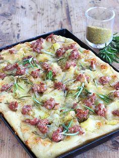 Burrata Pizza, Focaccia Pizza, Quiche, Burger Bar Party, Strudel, Pizza Recipes, Healthy Recipes, Vegan Pizza, Pizza Dough