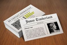 Check out Newspaper (Reporter) Business Card by https://twitter.com/Itembridge on Creative Market