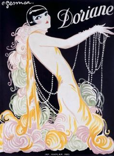 1926 Doriane Advertisement by Charles Gesmar Fine Art Print. Features:    Fine art giclee print on heavy archival paper   Unique vintage design   Archival quality ink to last a lifetime   Made in the USA  SHIPS IN 1-3 WEEKS