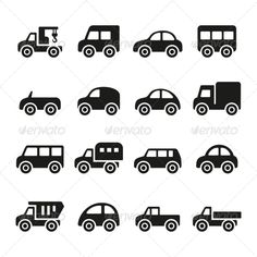 Cars Icon Set — JPG Image #set #station wagon • Available here → https://graphicriver.net/item/cars-icon-set/5733409?ref=pxcr