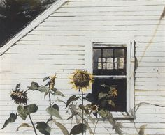 Andrew Newell Wyeth, Sunflowers. See The Virtual Artist gallery: www.theartistobjective.com/gallery/index.html