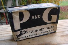 Vitage Laundry Detergent | VINTAGE BAR OF P and G WHITE LAUNDRY SOAP by thecherrychic on Etsy