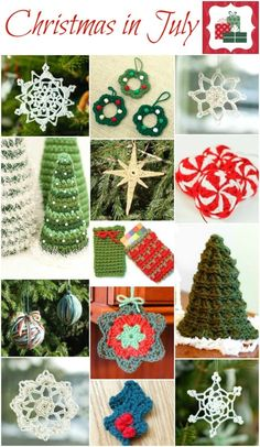 christmas in july craft ideas crochet ornaments gingerbread and ornaments on 6049