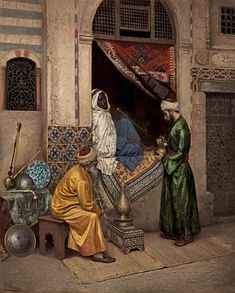 Middle East Culture, Painting Carpet, Arabian Art, Old Egypt, Egyptian Art, Islamic Art, Traditional Art, Urban, Fine Art
