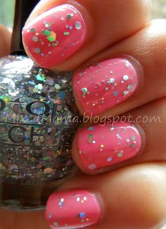 Pink Lady with Rocky Road by Tip Top Nail Chic Polish