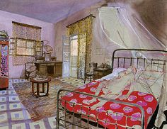 Set designed by Alexandre Trauner for 'Coup de torchon' (Clean Slate), 1981 (directed by Bertrand Tavernier)