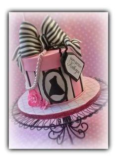 Little black dress hatbox cake on Cake Central