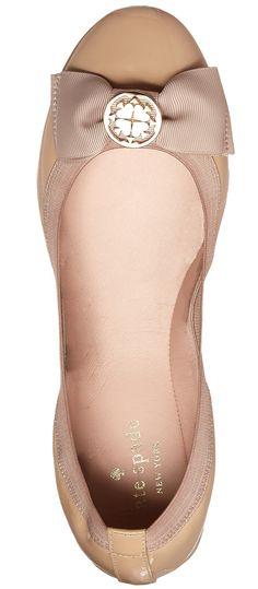 Kate Spade Nude Bow Flats