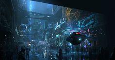 ArtStation - The future city, chenxi kang Cyberpunk City, Futuristic City, Futuristic Vehicles, Environment Concept Art, Environment Design, Future City, Sci Fi Fantasy, Fantasy World, To Infinity And Beyond