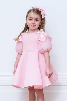 Powder Pink Flower Girl Gown - David Charles Childrens Wear-Powder Pink Flower G. Powder Pink Flower Girl Gown - David Charles Childrens Wear-Powder Pink Flower Girl Gown – David Charles Childrens W Gowns For Girls, Little Girl Dresses, Girls Dresses, Baby Girl Fashion, Kids Fashion, Flower Girl Gown, Baby Dress Design, Romper Pattern, Kids Frocks
