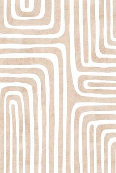 Neutral geometric line art pattern by Miss-Belle | Redbubble