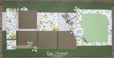 Making A Bridal Shower Scrapbook – Scrapbooking Fun! Paper Bag Scrapbook, Scrapbook Sketches, Scrapbook Page Layouts, Scrapbook Cards, Scrapbooking Ideas, Kids Craft Box, Stampin Up, Bridal Shower Scrapbook, How To Make A Paper Bag