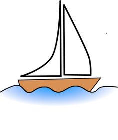 Vector image of a simple boat on the sea. Boat Drawing Simple, Simple Boat, Drawing For Kids, Drawing Ideas, Sailboat Drawing, Jesus Calms The Storm, Boat Cartoon, Boat Vector, Calming The Storm