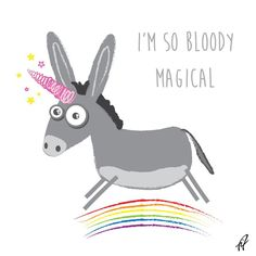 Awkward Illustration — Uni donk…so magical. #unicorn #donkey...