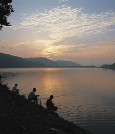 Shore fishing.