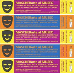 Saturday at Buoncovento to learn how to build masks #Carnival, from 04.00 pm. Info artesacravaldarbia@museisenesi.org