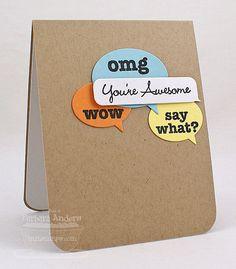 You're Awesome - Handmade Card