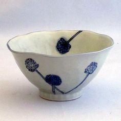 Murata - Japanese Tableware & Fine Gifts : RICEBOWL/SHIROTSUMEKUSA [180314] - $6.95 :