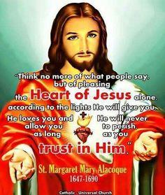 St. Margaret Mary Alocoque . Catholic Saints