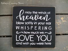 12X12 Hand painted sign May the winds of by NelansCountryStore