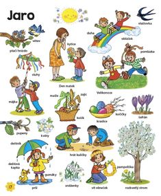 Velká kniha českých slov • Infoa Aa School, School Clubs, Spring Activities, Preschool Activities, School Projects, Projects To Try, Baby List, Spring Crafts, Diy And Crafts