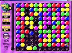 Zagraj w mydlane bańki klikając w ten link http://gierunie.pl/gry/mydlane-banki/ które sa na czwartej pozycji według mojej listy :P
