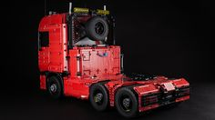 Lego Technic Tractor Truck Lego Truck, Lego Boards, Lego Projects, Lego Creations, Legos, Tractors, Lego Vehicles, Trucks, Lego Ideas