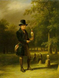 A Falconer, 1833 by James Giles (Scottish 1801–1870)