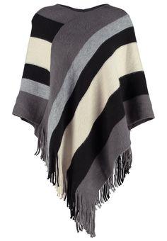 Vêtements Anna Field Cape - white/grey/black blanc: 16,95 € chez Zalando (au 27/11/16). Livraison et retours gratuits et service client gratuit au 0800 797 34.