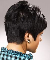 This fantastic look has uniform layers cut around the back and side, blending into the short jagged layers through the top which creates height and texture for a magnificent finish.
