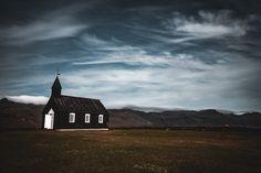 budakirkja black church... #iceland #budakirkja #churches #fafiebig