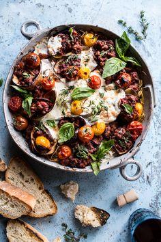 Italian Turkey and Tomato Basil Eggplant Roll Pasta Bake | halfbakedharvest.com