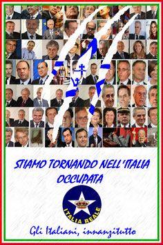 Manifesto Italia Occupata   ITALIA REALE - Stella e Corona