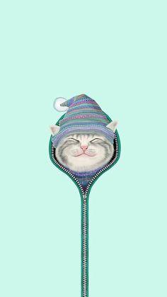Imagen de cat and wallpaper