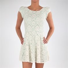 Love, Fire Juniors Lace Cap Sleeve Dress #VonMaur #Mint