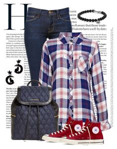 """Descontraido"" by ebramos ❤ liked on Polyvore featuring Frame Denim, Rails, Vera Bradley, Converse and David Yurman"