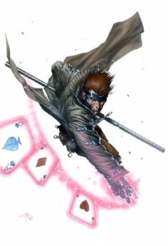 Gambit By Gabriele Dell'Otto #Comics #Illustration #Drawing