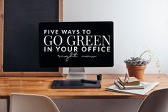 Five Ways to Go Green In The Office Right Now - Hello Nature