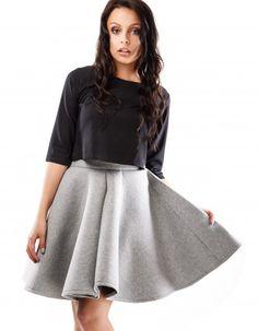 Z kolekcji jesień-zima 2014/2015 Rozszerzana spódnica midi, uszyta z koła, Konserwacja: pranie  w temperaturze do 60*