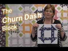 http://missouriquiltco.com -- Jenny Doan demonstrate how to make the gorgeous Churn Dash quilt block using layer cakes (10 squares).  You wont believe how easy it is to make this impressive quilt.  To get the materials needed to make this project, follow the links below.  Layer Cakes (10 precut fabric squares) - the best selection on the web:...
