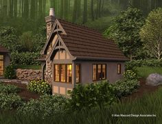 House Plan 5033 -The Bucklebury | houseplans.co - 300sf downstairs, but looks like room for a loft upstairs.