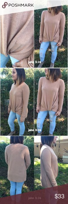 Soft long sleeve tops So soft long sleeve casual tops - 28%rayon 68%polyester 4% spandex - price is firm✔️   Daughter modeling small                                           Small bust 36' Medium bust 38' Large bust 40' Tops