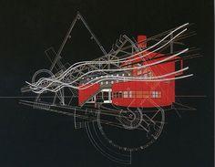 Marvellous drawings of Parc de la Villetteby Bernard Tschumi.