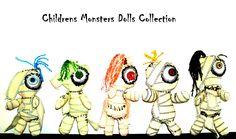 Muñecos de tela ensamblados a mano